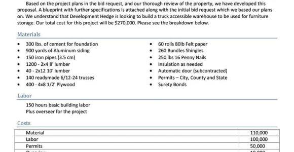 Concrete Proposal Template 31 Construction Proposal Template Construction Bid forms