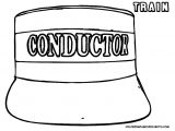 Conductor Hat Template Steel Wheels Train Coloring Sheet Yescoloring Free
