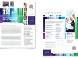 Conference Brochure Template Free Business Leadership Conference Datasheet Template Design