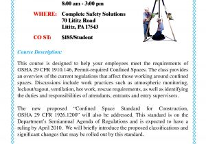 Confined Space Certificate Template 6 Best Images Of Confined Space Training Certificate