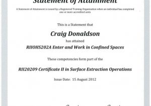 Confined Space Certificate Template C D Confined Space Certificate