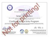 Confined Space Certificate Template Hse Certification