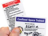 Confined Space Certificate Template Self Laminating Certification Wallet Card Signs Sku Bd