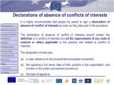 Conflict Of Interest Declaration Template 5 Procurement Conflict Of Interest and Sub Granting