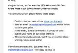 Congratulations Winner Email Template 5 Proven Ways to Announce Notify Contest Winners with