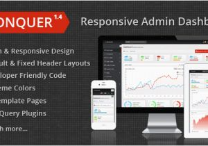 Conquer Responsive Admin Dashboard Template 50 Premium Admin Templates that You May Fall In Love with It