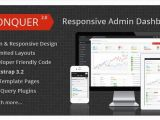Conquer Responsive Admin Dashboard Template 75 High Quality HTML Admin Templates 2016