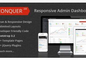 Conquer Responsive Admin Dashboard Template 75 High Quality HTML Admin Templates 2016