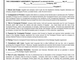Consignment Store Contract Template Consignment Agreement Template Free Microsoft Word Templates