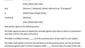 Consignment Store Contract Template Consignment Contract Template 11 Word Google Docs Pdf
