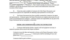 Construction Contract Agreement Template Construction Contract 9 Download Documents In Pdf
