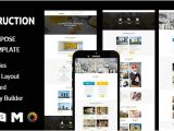 Construction Email Templates Construction Responsive Email Template with Stampready