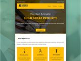 Construction Email Templates Spark Email Template Buy Premium Spark Email Template