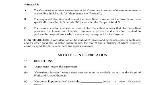 Consulting Contract Template Canada Canada Consulting Contract and Confidentiality Agreement