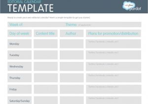 Content Calendar Template Hubspot How to Create A Content Marketing Strategy From Scratch In