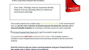 Content Creation Proposal Template Sample Proposal Letter for Website Design Choice Image