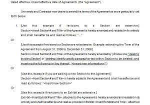 Contract Amendment form Template 9 Contract Amendment Templates Word Pdf Google Docs