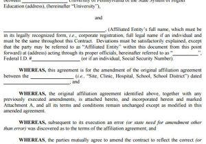 Contract Amendment form Template Contract Amendment Template 11 Samples Word Google