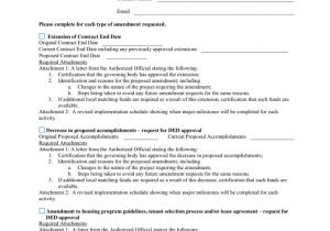 Contract Amendment form Template Home Contract Amendment Request form In Word and Pdf formats
