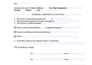 Contract Amendment form Template Sample Contract Amendment Template 11 Documents In Pdf