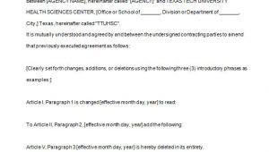 Contract Amendment Template Uk 9 Contract Amendment Templates Word Pdf Google Docs