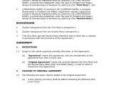 Contract Amendment Template Uk Amendment Agreement Docular