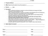Contract for Buying A House Template Option to Purchase Agreement Buying Real Estate