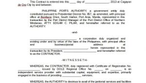Contract for Janitorial Services Template Service Contract Template 19 Download Free Documents In