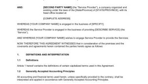 Contract for Management Services Template It Systems Hr Management Services Agreement Template
