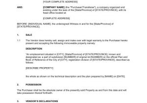 Contract for Sale Of Property Template Immoveable Property Sale Agreement Template Word Pdf