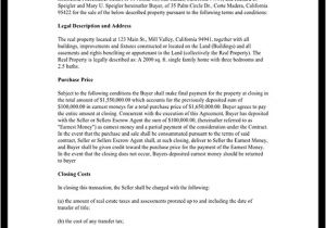 Contract for Sale Of Property Template Property Sale Agreement Property Sale Contract form
