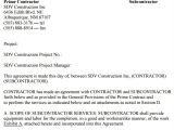 Contract for Subcontractors Template Sample Subcontractor Agreement 17 Free Documents
