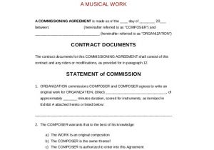Contract for Work to Be Done Template 22 Commission Agreement Templates Word Pdf Pages