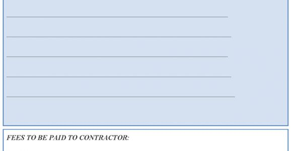 Contract for Work to Be Done Template Qualified Contractor Contract Agreement Template Example