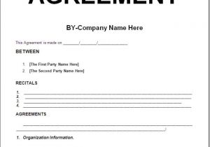 Contract for Work to Be Done Template Simply Nice Template Design for Contract Agreement with