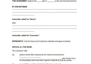 Contract for Work to Be Performed Template 21 Contract Agreement Templates Word Pdf Pages Free