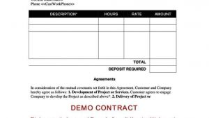 Contract for Work to Be Performed Template Contract for Work to Be Performed Template