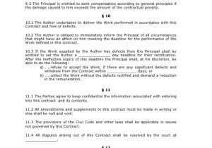 Contract for Work to Be Performed Template Contract to Perform A Specified Task Eng