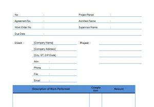 Contract for Work to Be Performed Template Contractor Invoice Templates 14 Free Word Excel Pdf