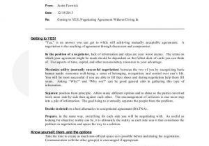 Contract Negotiation Template 50 Perfect Negotiation Agreement Template Ha R7289
