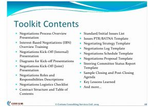 Contract Negotiation Template Outsourcing Contract Negotiations Structure Process tools