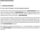 Contract Of Employment Template Australia Part Time Employment Contracts Template