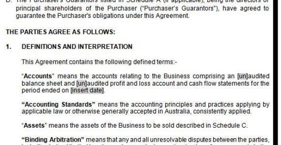 Contract Of Sale Nsw Template Agreement Sale Purchase Business Contract