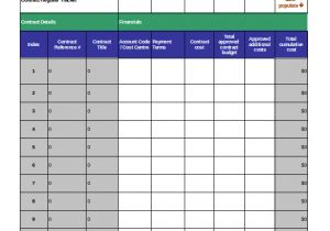 Contract Register Template Contract Tracking Template 9 Free Word Excel Pdf