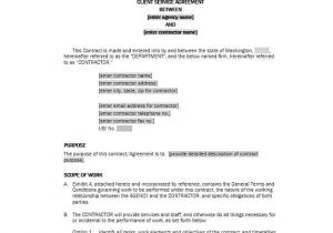 Contract Service Agreement Template 50 Professional Service Agreement Templates Contracts