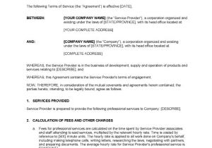 Contract Service Agreement Template Service Contract Templates 14 Free Word Pdf Documents