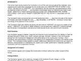 Contract Templates for Contractors Agreement Freewordtemplates Net