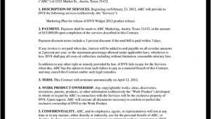 Contract to Provide Services Template General Contract for Services form Template with Sample