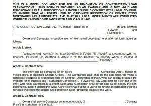 Contractor Contract Template Construction Contract Template 14 Word Pdf Apple