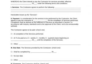 Contractor Contract Template Free Independent Contractor Agreement Template Pdf